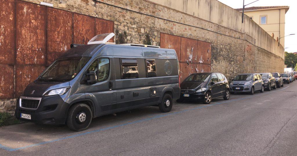 Cappuccino mit Marion und Parkplatzsuche in Florenz 9
